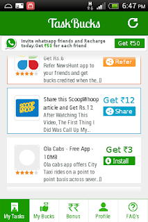 [Update] Earn 500 Rs Free Recharge from #Task buck app [new offer]