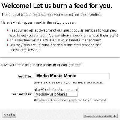 How to Burn Blogger RSS Feeds to Feedburner