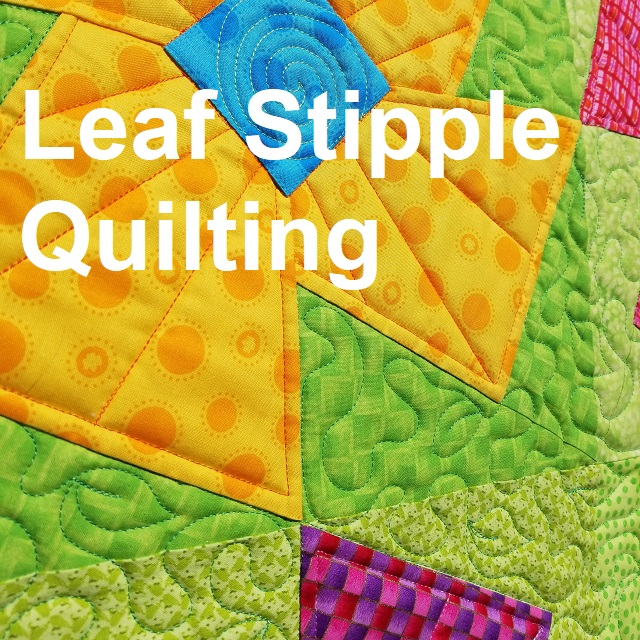 leaf stipple-quilting-freehand-freemotion quilting