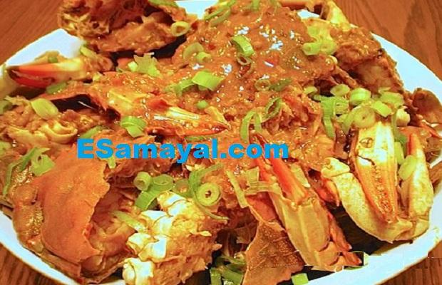 குடமிளகாய் நண்டுக்கறி பொரியல் செய்முறை | Capsicum Crab Fry Recipe !