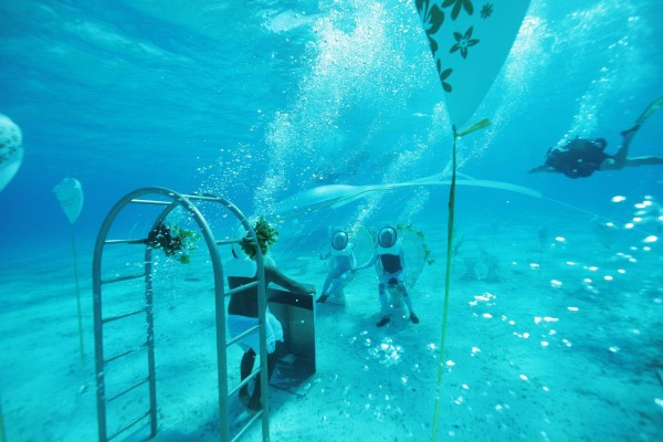 Bora Bora underwater chapel
