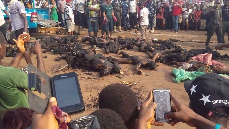 More graphic pics from fatal accident in Onitsha today (it