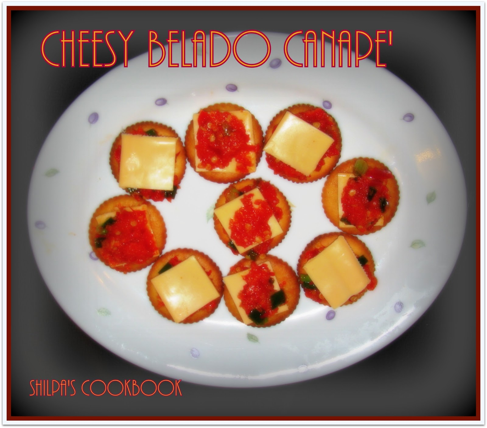 Cook book cheesy belado canape 39 for Canape cookbook