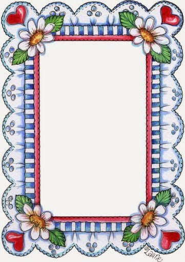 Flowers in Country Style: Free Printable Frames, Borders and Labels.