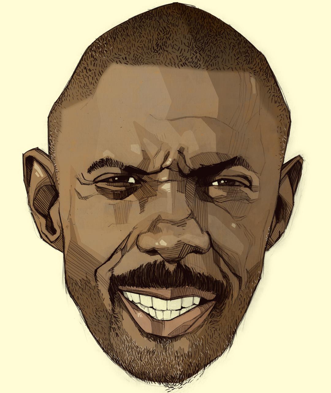 Idris Elba portrait