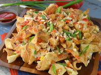 Sweet Chili Chicken Wonton Nachos