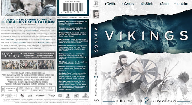 Capa Bluray Vikings Segunda Temporada Completa