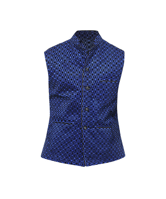 Yepme Colin Nehru Jacket - Royal Blue_ INR 1799