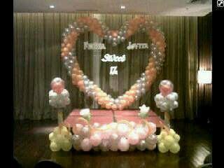 dekorasi balon Sweet 17