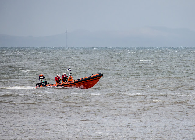 Photo of Maryport Inshore Rescue boat on the Solway Firth
