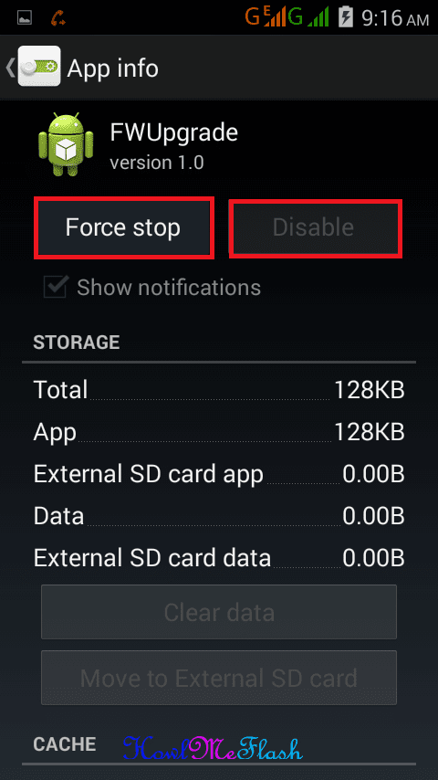 FWUpgrade Force Stop