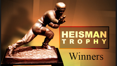 The Heisman Trophy, college football, NCAA, FCB,  Winners,  Candidates, Finalist, odds, by School, by Year.