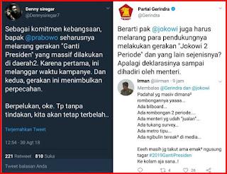 Berita Terhangat Admin @Gerindra Bungkam Pendukung Jokowi, Kali Ini Denny Siregar