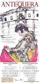 Antequera - Feria de Agosto 2018 - Cartel taurino