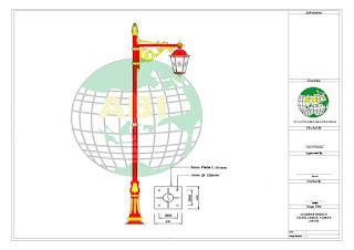 Lampu Taman Tiang Minimalis Murah