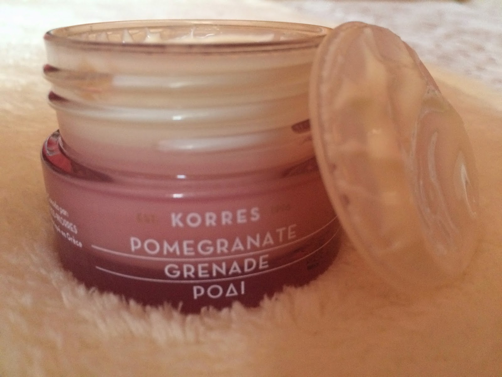 pomegranate moisturising cream gel by Korres review bubblybeauty135