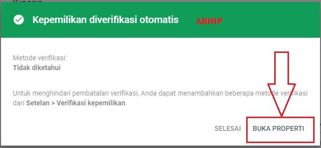 Buka properti dari domain baru.