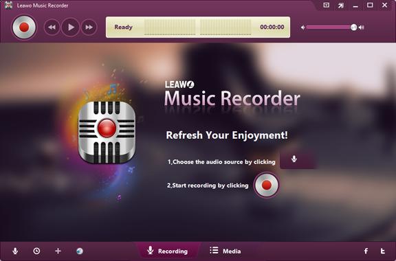 leawo music recorder full main windows
