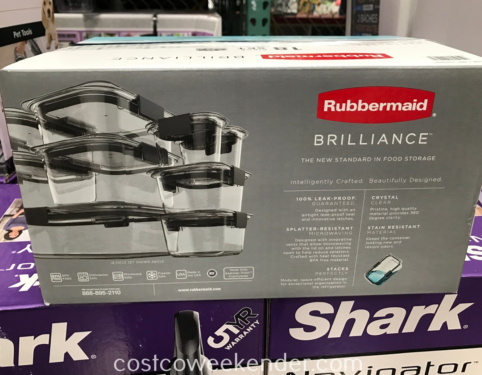 Costco 1103099 - Rubbermaid Brilliance 18pc Food Storage Set: great for any kitchen