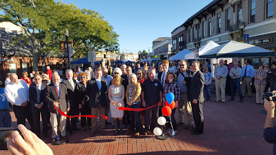 Senator Spilka joined many with many to celebrate the ribbon cutting to open the newly renovated downtown Franklin
