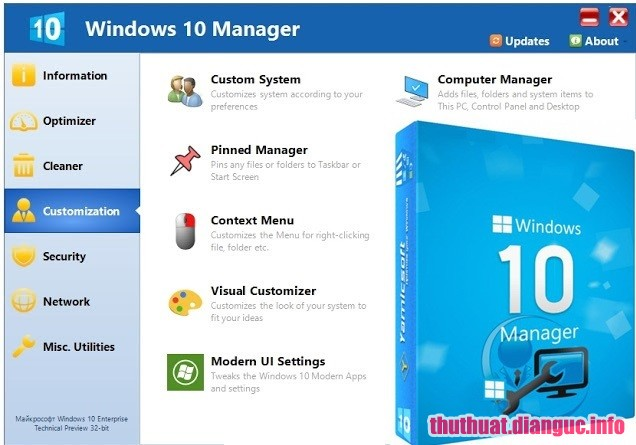 Download Yamicsoft Windows 10 Manager 3.0.3 Full Crack, phần mềm tối ưu hóa hiệu suất của Windows 10, Yamicsoft Windows 10 Manager, Yamicsoft Windows 10 Manager free download, Yamicsoft Windows 10 Manager full key,