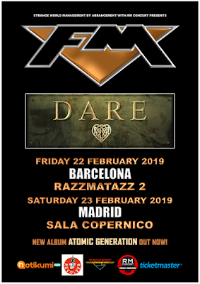 FM + Dare - Spain tour dates February 2019 - poster