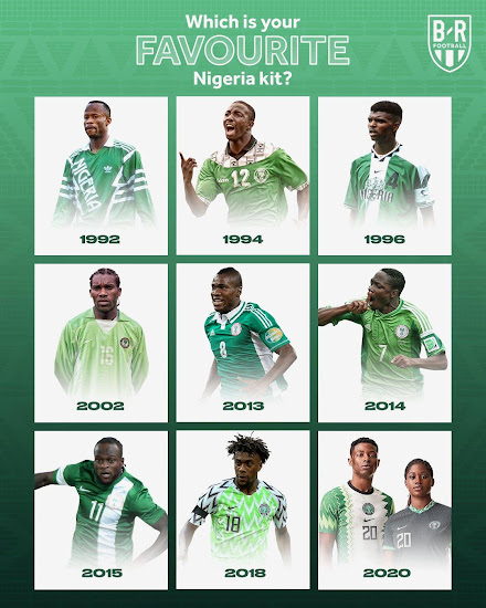 Full Nigeria Kit History 1949 2020 Footy Headlines