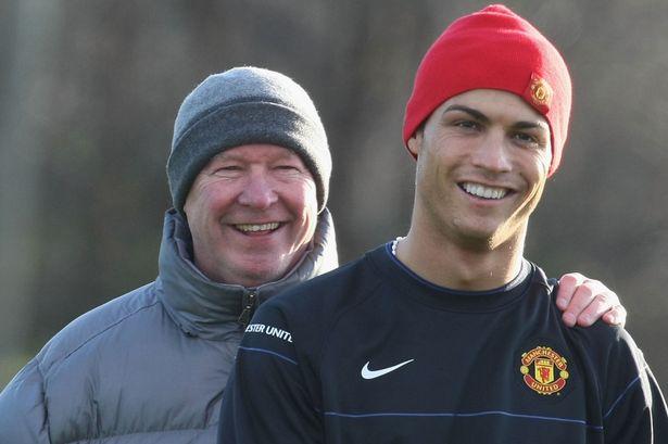 Cristiano Ronaldo And Sir Alex Ferguson