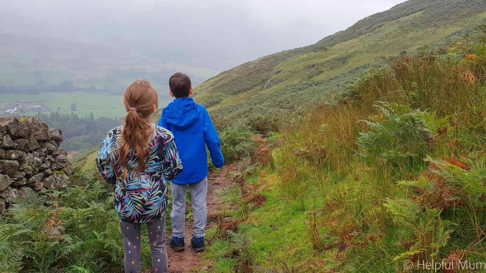 children walking in the Lake District