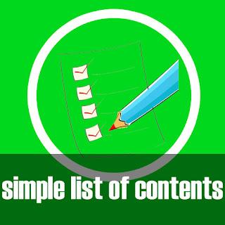 Halaman Daftar Isi Sederhana di Blog