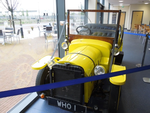 Yellow Bessie roadster Doctor Who