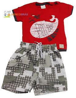 Atacado de roupas infantis de verão