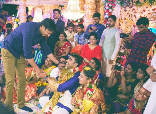 gopichand at director radha krishna kumar wedding