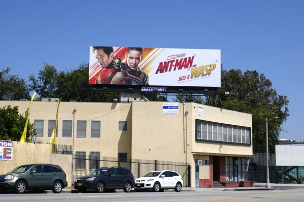 Ant-Man and Wasp film billboard