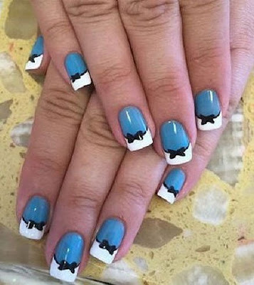 Stylish-and-Cute-Nail-Designs-with-Bows-and-Diamonds-for-Girls-12