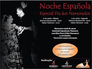 Espetáculo *Noche Española* Especial Dia dos Namorados