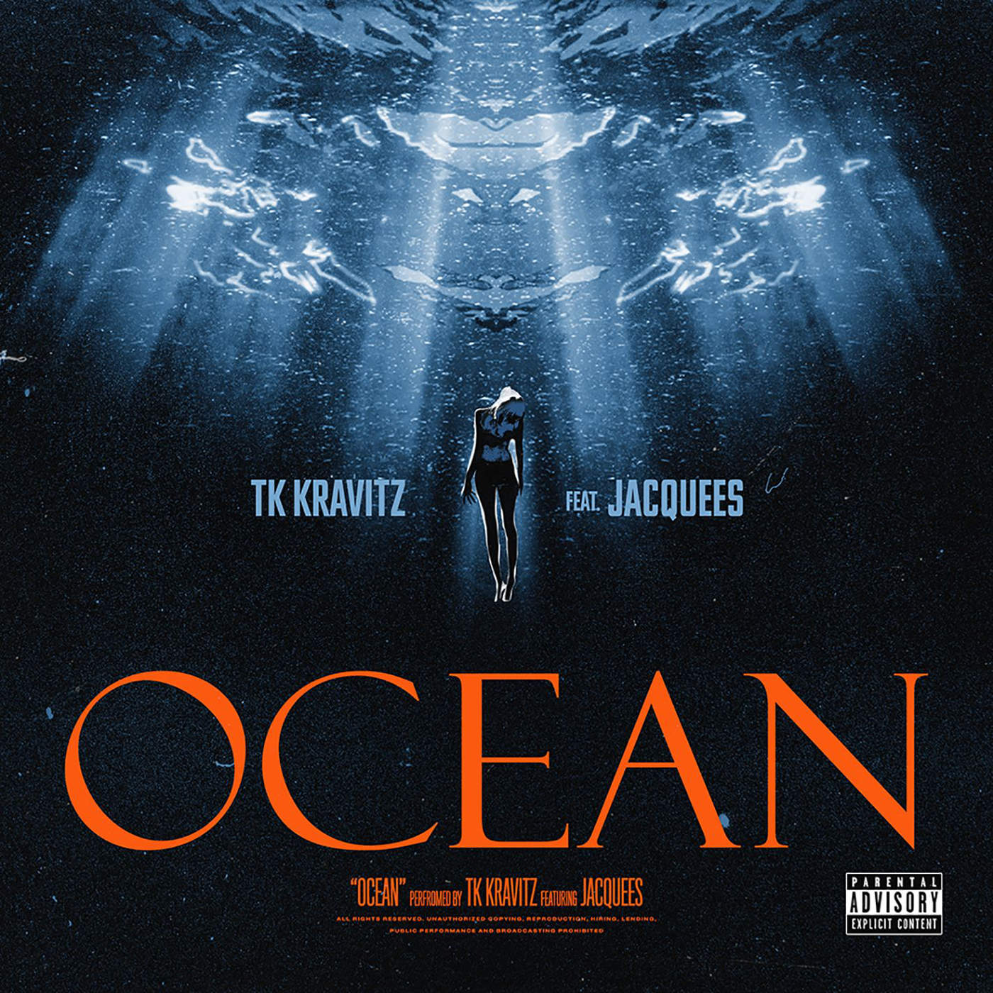 TK Kravitz - Ocean (feat. Jacquees) - Single Cover