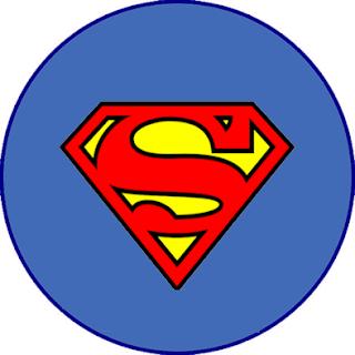 Toppers o Etiquetas de Símbolo de Superman para imprimir gratis.