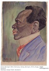 Georg Beringer - Aquarell aus dem Jahre 1919, Nachlass Joseph Stoll, Bensheim