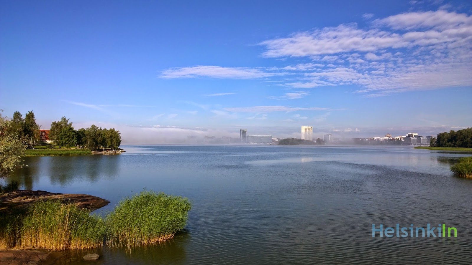 fog over Keilaniemi