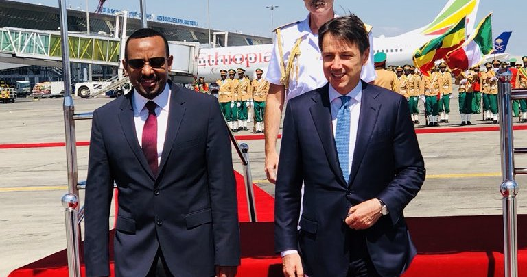 <Italy&#039;s prime minister to discuss peace deal in Ethiopia, Eritrea