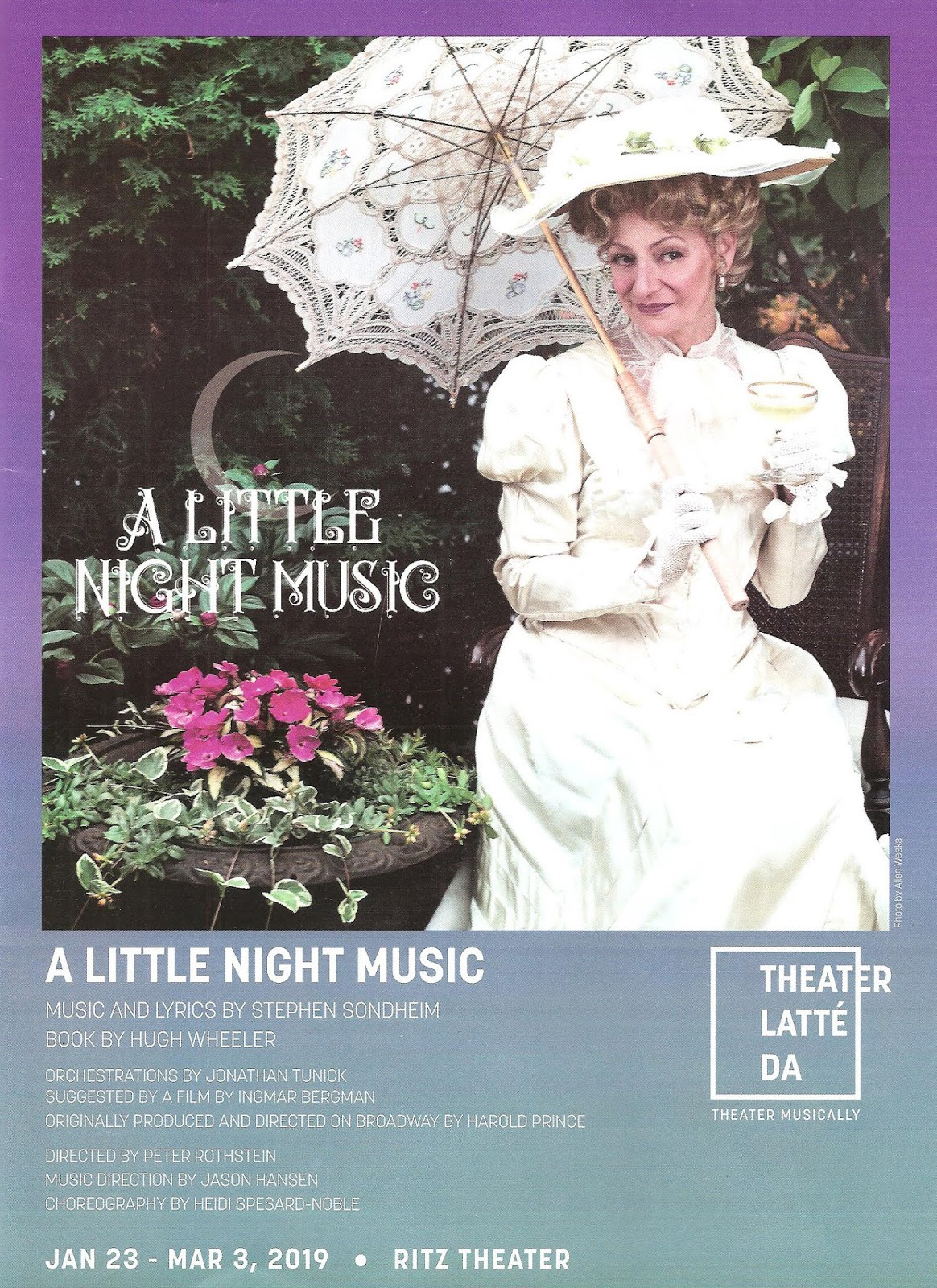 Theater Latte Da's production of A Little Night Music is pure loveliness  from the moment the cast steps onstage behind a sheer curtain, warming  their voices ...