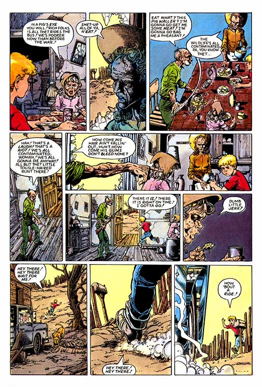 Atomic kommie comics trump reading room alien worlds ride the blue this never reprinted post apocalyptic tale by writer bruce jones and artist george perez from pacifics alien worlds 7 1984 has an odd quirk fandeluxe Images