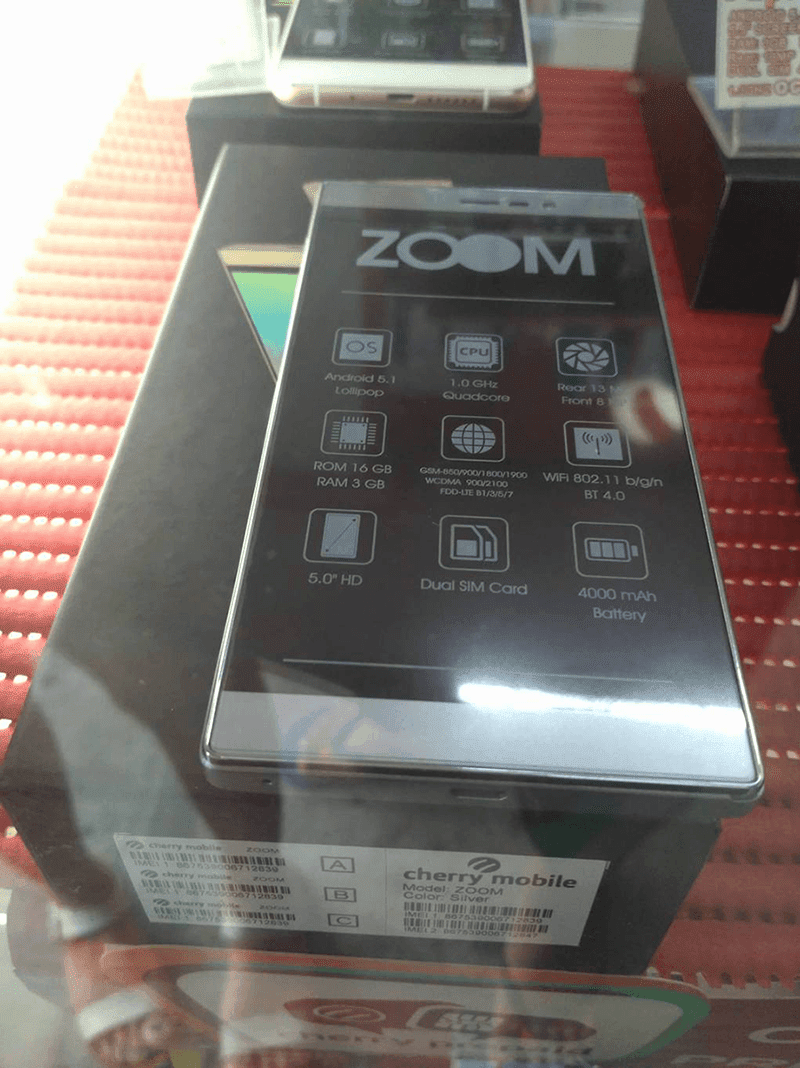 Cherry Mobile Zoom leaks
