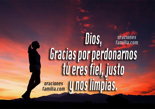 Oración para que Dios me perdone, frases para hablar con Dios en la noche, imágenes cristianas con oraciones por Mery Bracho.