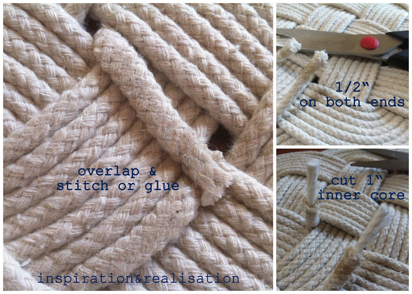 Cotton Rope Rug Tutorial Roselawnlutheran This Is The Way I Ended Two Tails
