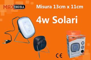 faretto led energia solare campeggio maxexcell
