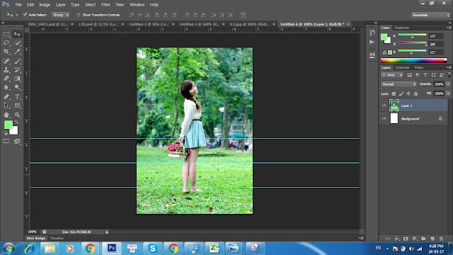 Hướng dẫn kéo chân dài ra trong Photoshop CS6
