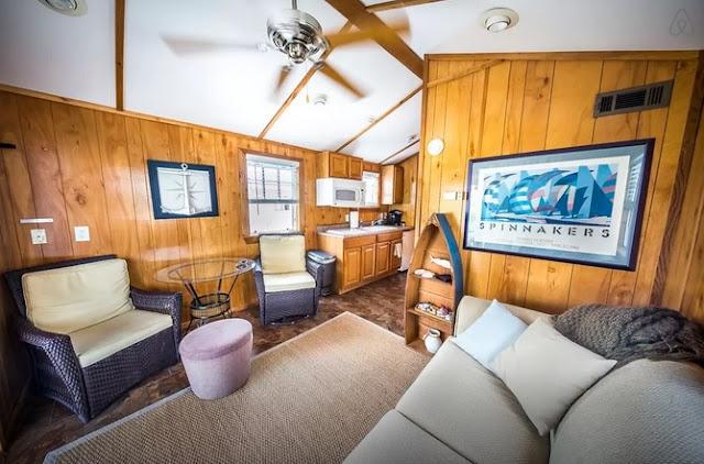 Rockaway Beach Floating Cabin Living Area