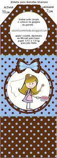 Etiquetas de  Novia Cocinera para imprimir gratis.